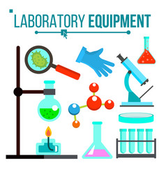 laboratory equipment chemical laboratory vector image