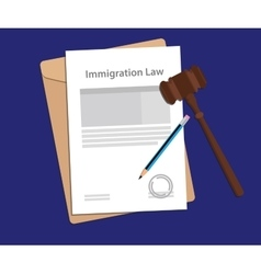 Legal concept of immigration law vector