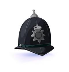 London policeman helmet vector