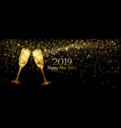 New year s background with champagne vector