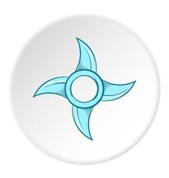 Ninja shuriken icon cartoon style vector image