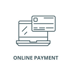 online payment line icon linear concept vector image