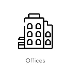 Outline offices icon isolated black simple line vector