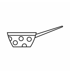 Pot icon outline style vector image