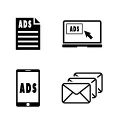 Promotion simple related icons vector