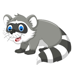 raccoon cartoon for you design vector image