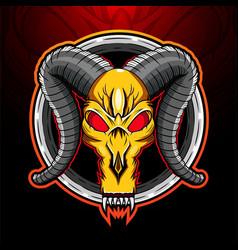 ram skull mascot logo design vector image
