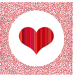 red heart and little hearts around vector image