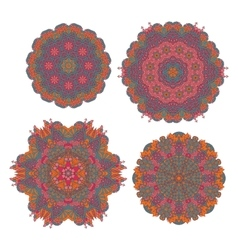 Round ornaments indian patterns mandalas vector