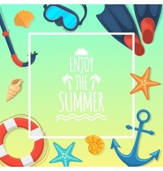 Sea shore and swimming accessories vector image