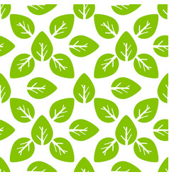 Seamless foliage pattern green leaf vector