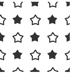 seamless star pattern stars background black and vector image