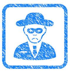 Security agent framed stamp vector