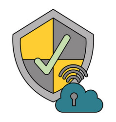 security data technology vector image