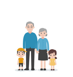 Set people character family concept vector