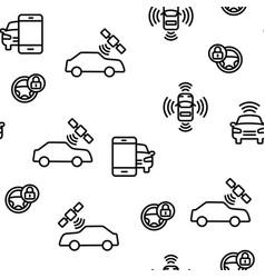 Smart car seamless pattern vector