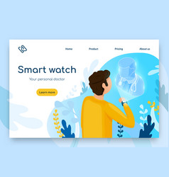 Smart watches for medical purposes website vector