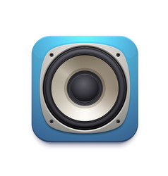 sound speaker icon with audio music stereo system vector image