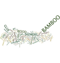 the bamboo rainstick text background word cloud vector image