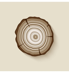 tree rings symbol vector image