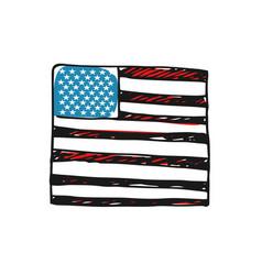 usa flag hand drawn icon vector image