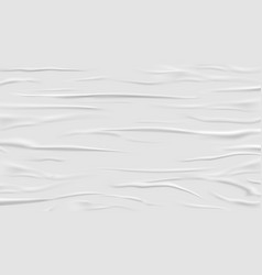 white glued and wrinkled paper background vector image