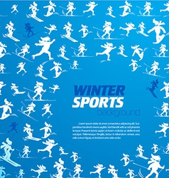 Winter extreme sport pattern with place for your vector