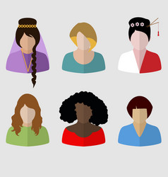 women set vector image