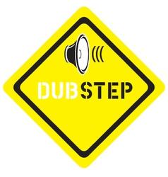 dubstep logo vector image vector image