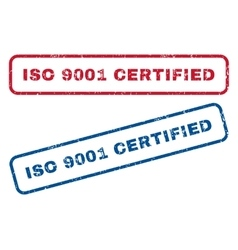 Iso 9001 certified rubber stamps vector