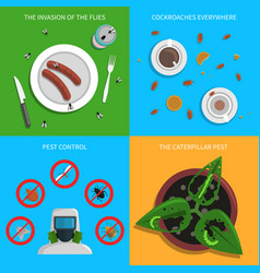 pest concept set vector image