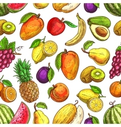 Fruit seamless pattern for food and drink design vector