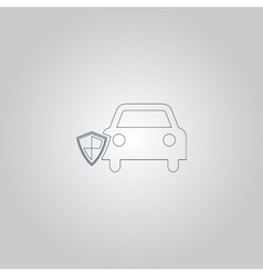 vehicle shield over gray background vector image vector image