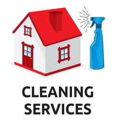 cleaning services2 vector image vector image