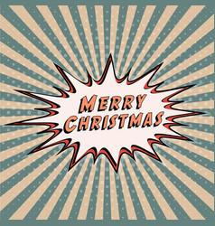 congratulatory banner merry christmas comic vector image vector image