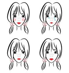 devojcicaa2 vector image vector image