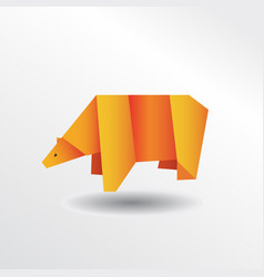 origami bear vector image vector image