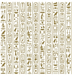 Ancient Egyptian writing vector image vector image