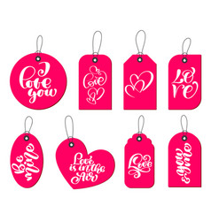collection of hand drawn cute gift tags with the vector image vector image