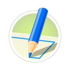 Colour pencil for drawing vector image vector image
