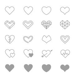 Heart Icons Line Set Of copy vector image