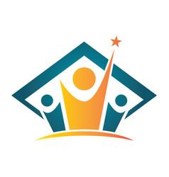 people graduation logo vector image