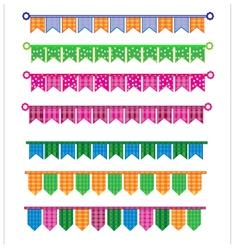 Ribbon colorful vector image vector image