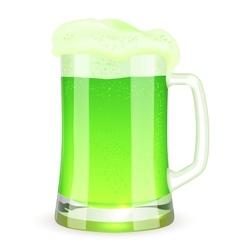 Saint Patricks Day pint of green beer vector image