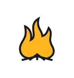 a fire icon vector image