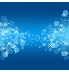 Abstract Blue Circle Background vector image