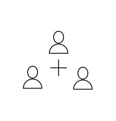 add users icon vector image