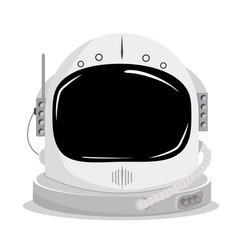 Astronaut space helmet vector
