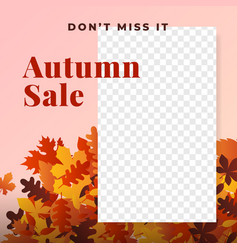 Autumn sale social media promotion poster vector