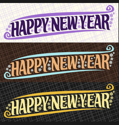 Banners for new year vector